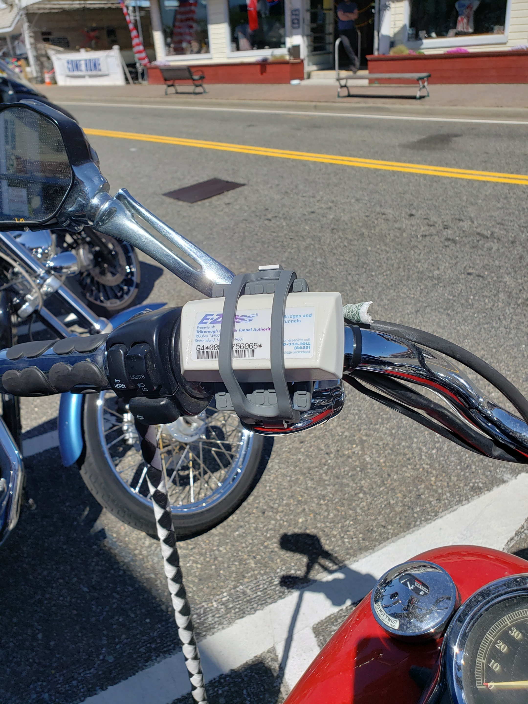 Toll Pass Motorcycle Holder
