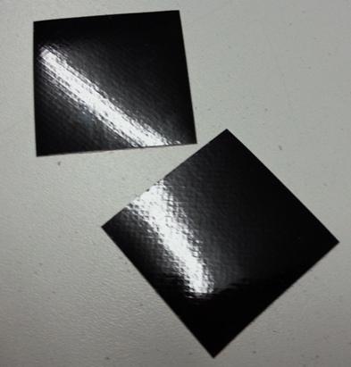 Reflective Black Helmet Squares R-3M-2X2