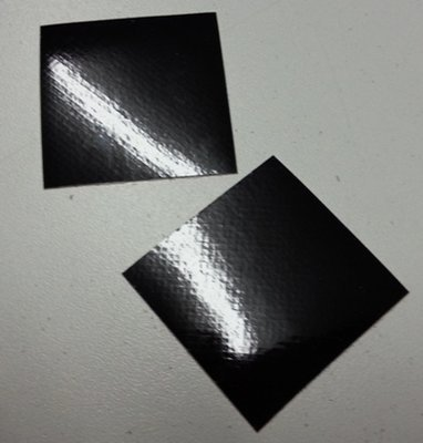 Reflective Black Helmet Squares