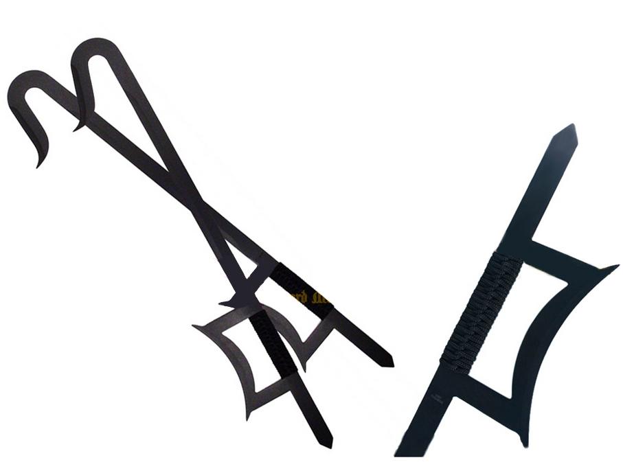 Ganchos de Tigre en Acero Inoxidable  NEGRO 440 Steel 00137