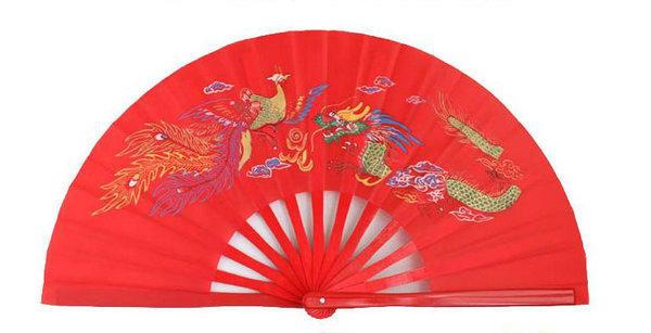 Abanico de Bambu Original hecho a mano Rojo 00149