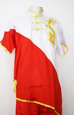 Uniforme de Wushu Chang Chuan Rojo/Blanco 00189