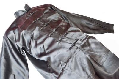 Uniforme Wushu y Taiji Quan negro fabricado en poliseda