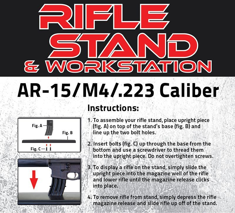 AR-15/M4/ 223 Caliber Rifle Stand & Workstation