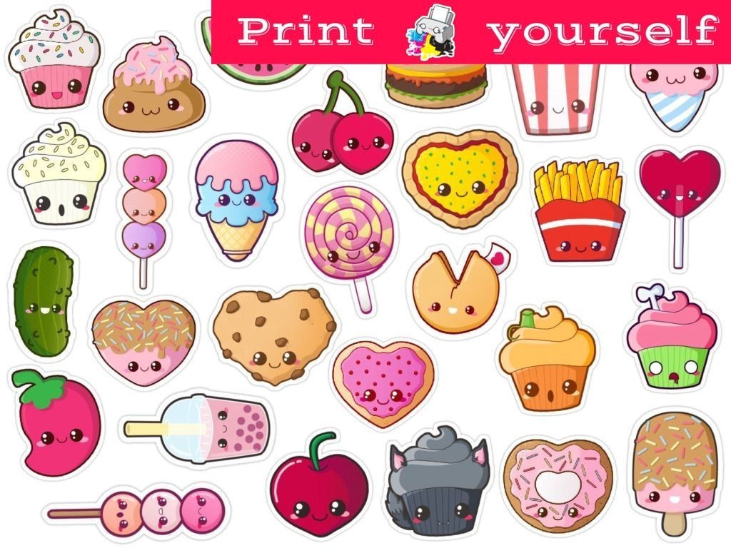 photograph regarding Tumblr Stickers Printable known as Preset #176P Food items stickers. Printable Tumblr Stickers. Printable decals. Fast Down load PDF and PNG Document