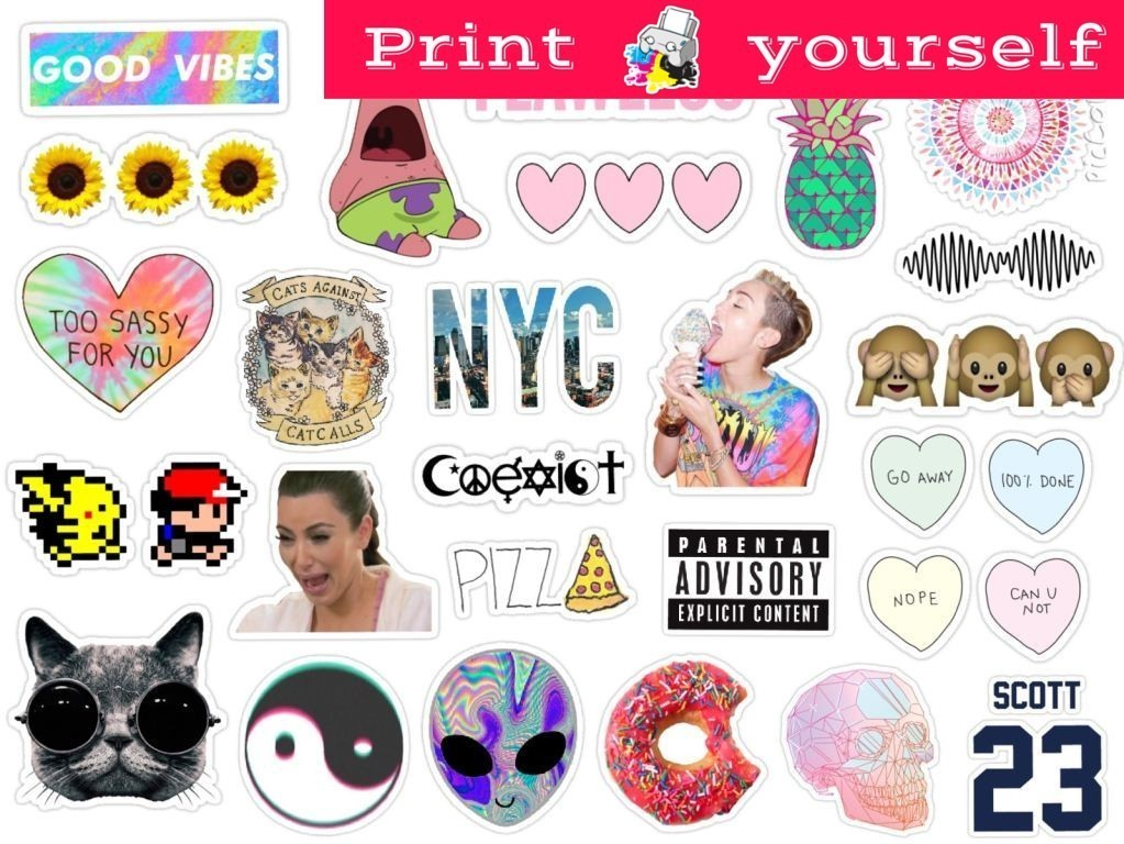 photo about Tumblr Stickers Printable known as Fixed #124 Printable Tumblr Stickers. Printable decals. Fast Obtain PDF and PNG Document