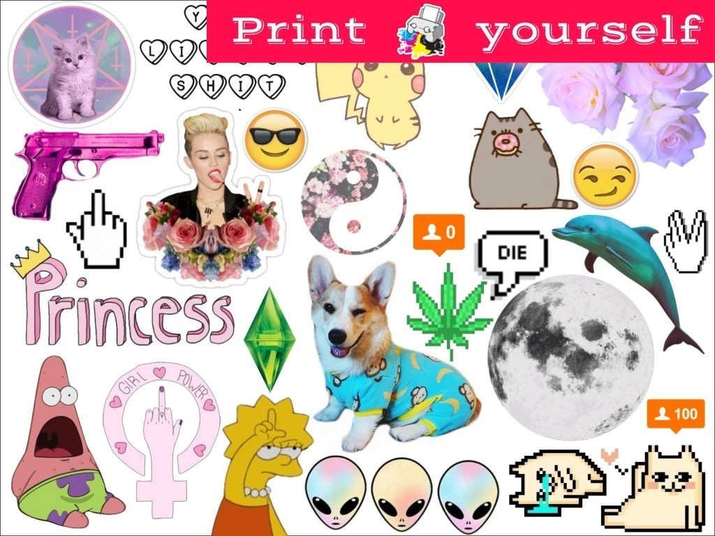 picture relating to Tumblr Stickers Printable called Established #203P Printable Tumblr Stickers. Printable decals. Prompt Down load PDF and PNG Document