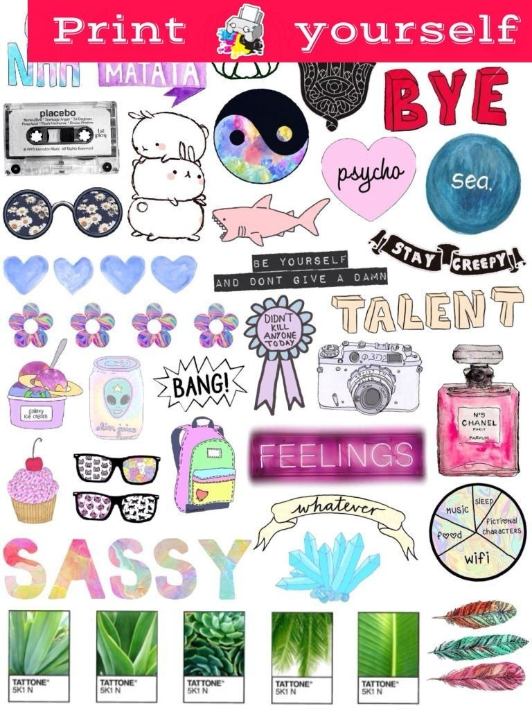 picture regarding Tumblr Stickers Printable identify Preset #3P Printable Tumblr Stickers. Printable decals. Prompt Obtain PDF and PNG Report