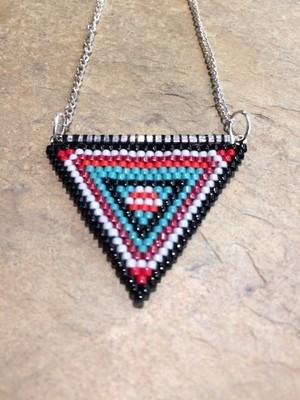 Triangle Pendant Brick Stitch
