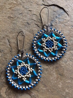 Dream Catcher Earrings with Beads