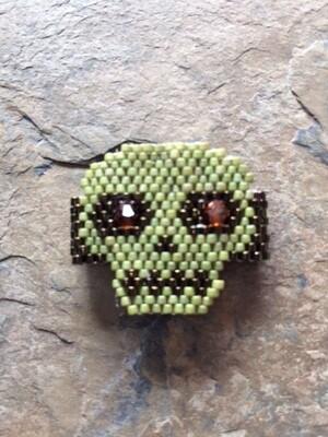 Skull Ring Brick Stitch