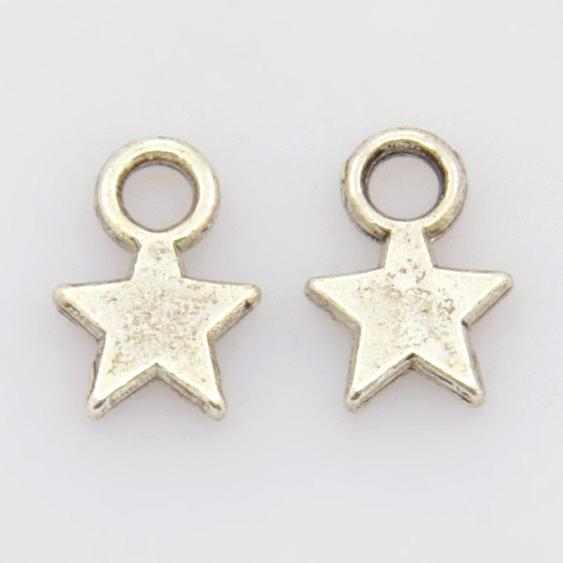 Star Pendant Antique Silver 10mm