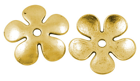 Flower Spacer Bead Antique Gold  21mm
