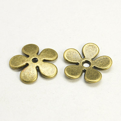 Flower Spacer Bead Antique Brass  21mm