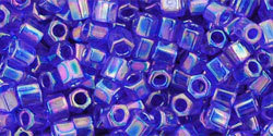 8/0 Hex Toho Tr Cobalt  AB 87