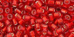 8/0 Hex Toho Siam Ruby s/l  25b