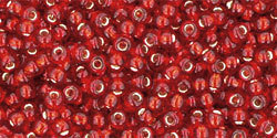 11/0 Round Toho Red s/l 25c
