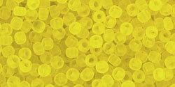 11/0 Round Toho TR Yellow Matte 12f