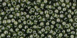 11/0 Round Toho Transparent Olive Green 940