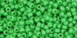 11/0 Round Toho Opaque Medium Green 47
