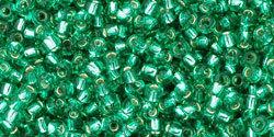 11/0 Round Toho Peridot Green s/l 24b