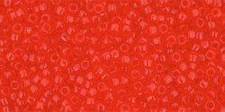 15/0 Round Toho Transparent Light Siam Red 5