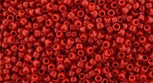 15/0 Round Toho Opaque Cherry Red 45a