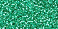 15/0 Round Toho Peridot Green s/l Matte 24bf