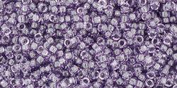 15/0 Round Toho Transparent Sugar Plum Purple 19