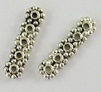 5 Hole Daisy Spacer Antique Silver 17x4.5mm
