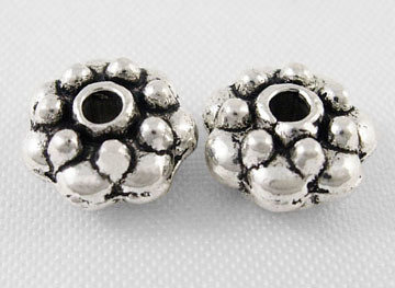 Spacer Bead Antique Silver 8mm