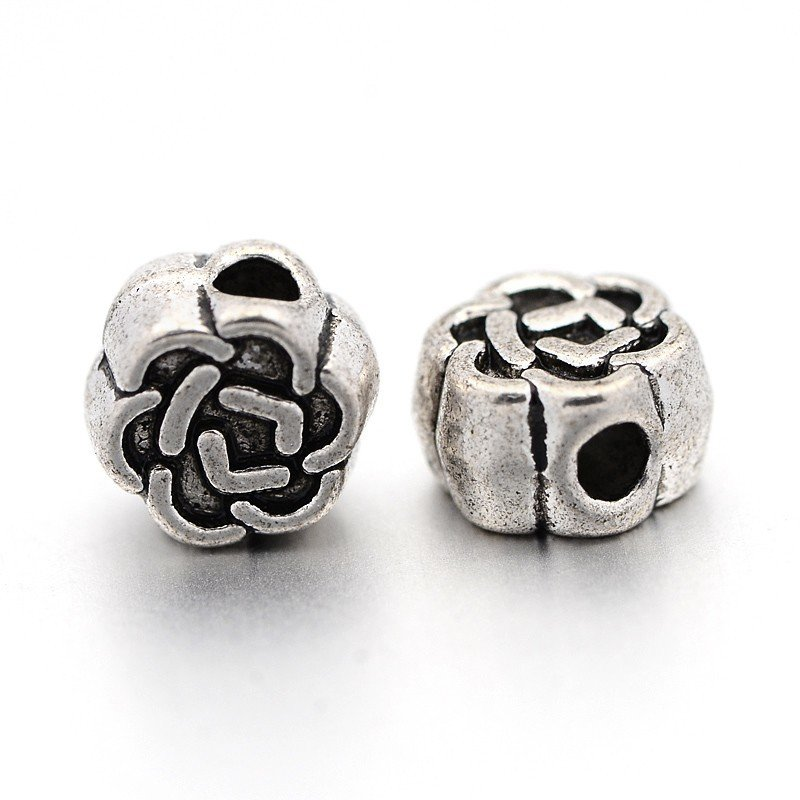 Celtic Knot Bead Antique Silver 4.5mm