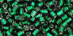 8/0 Hex Toho Emerald s/l 36