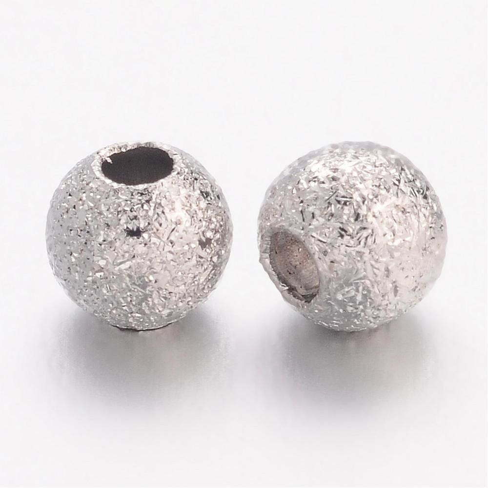 Stardust Bead Platinum 4mm