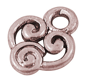 Swirly Charm Antique Copper 10x8mm