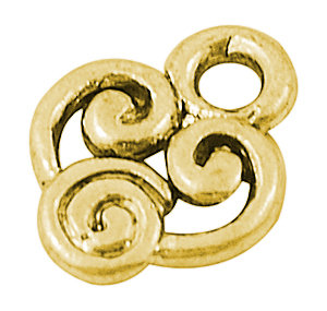 Swirly Charm Gold 10mm
