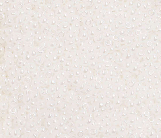 10/0 Round Czech Opaque Pearl White 1476