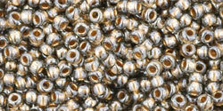 11/0 Round Toho Black Diamond gold lined 993