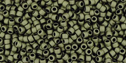 15/0 Round Toho Dark Olive Matte 617