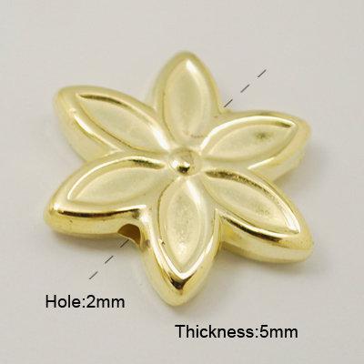 Flower Bead Gold 37mm