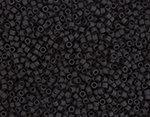 11/0 Delica Miyuki Opaque Black Mt  310
