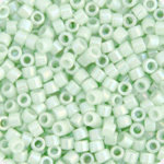 11/0 Delica Miyuki Opaque Lt Mint Green AB 1506