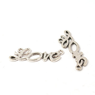 Love Script Anitque Silver 33x10