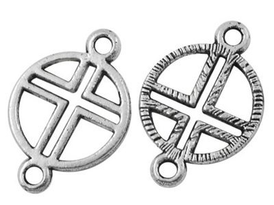 Cross 1 to 1 Link Antique Silver 20mm