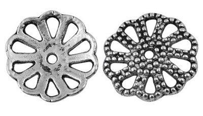 Flower Link Antique Silver 20mm