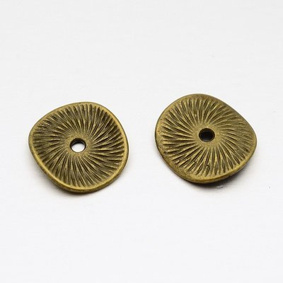 Wavy Spacer Bead  Antique Brass 15mm