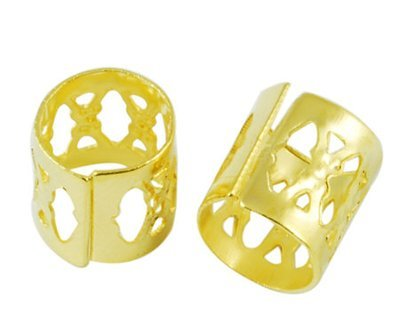 Filigree Tube Gold 9x9mm