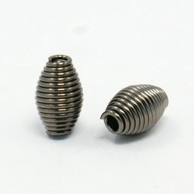 Coil Bead Gunmetal  9x6mm
