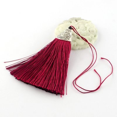 Wine Tassel with silver cap   80x20x11mm