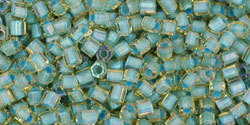 11/0 Hex Toho Light Topaz AB Seafoam Colour-Lined  952